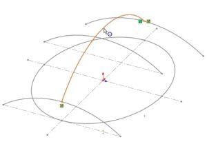 線の真ん中で貫通拘束をつける方法