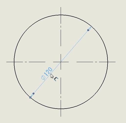 【図面テクニック】直径(半径)の寸法配置を一ヶ所だけ変える