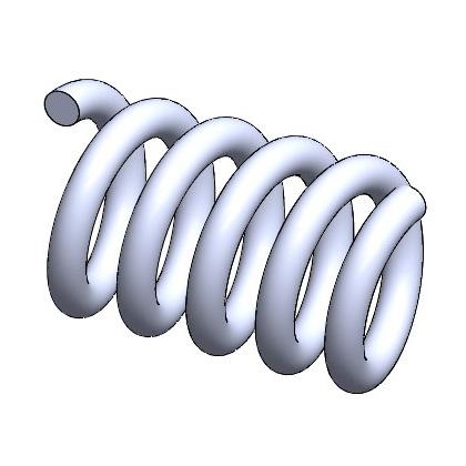 螺旋(らせん:ヘリックス)を描く